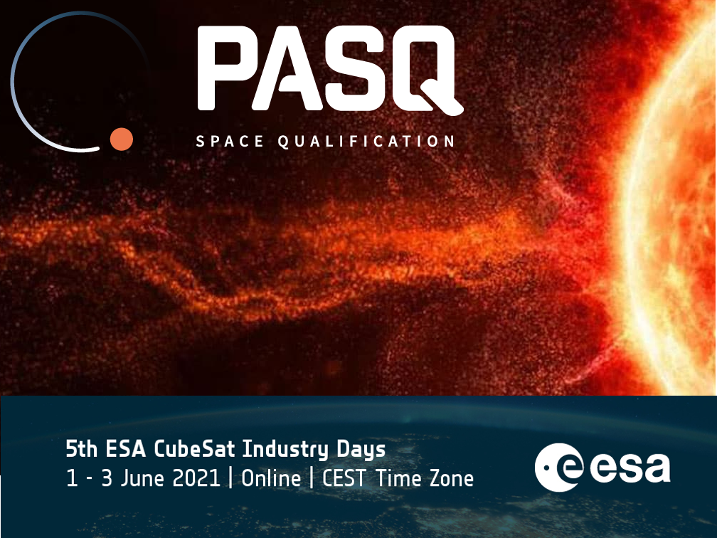 PASQ to present experiences from radiation testing in non-traditional testing facilities at 5th ESA CubeSat Industry Days